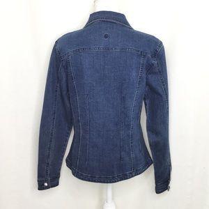 Christine Alexander Jackets & Coats - Christine Alexander Blue Jean jacket with crystals